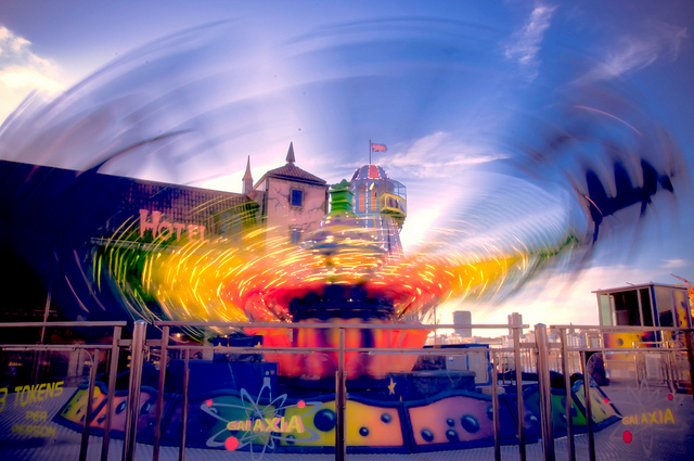 Brighton Pier Ride Blur